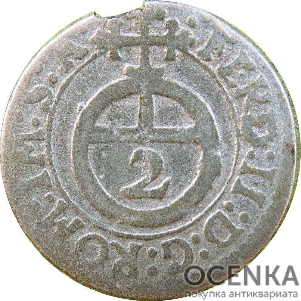Серебряная монета 2 Крейцера (2 Kreuzer) Германия - 4