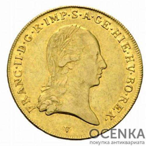 Золотая монета 1 соверен Австро-Венгрии - 3