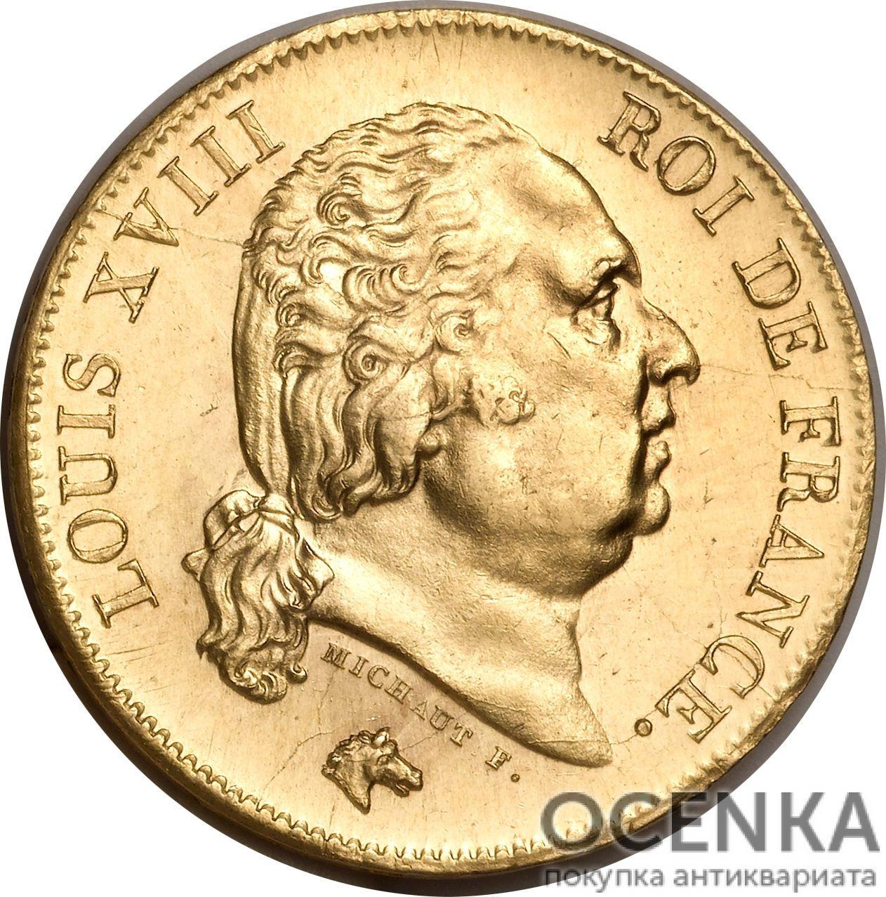 Золотая монета 40 Франков (40 Francs) Франция - 3