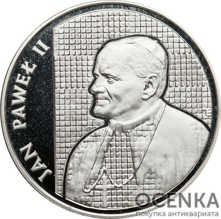 Серебряная монета 10 000 Злотых (10 000 Złotych) Польша - 3