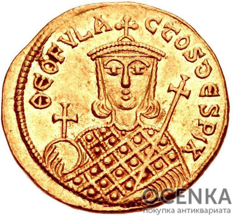 Золотой солид Византии, Михаил I Рангаве Игнатий, 811-813 год - 1