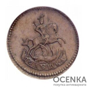 Медная монета Полушка Екатерины 2