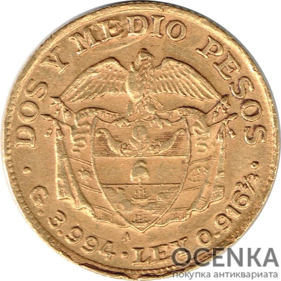 Золотая монета 2½ Песо (2½ Pesos) Колумбия - 2
