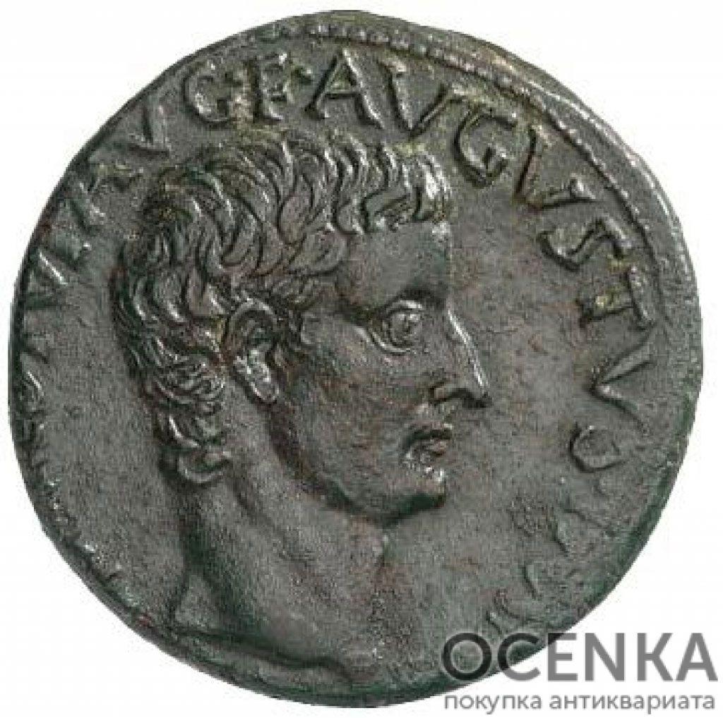 Медная монета Асс древнего Рима