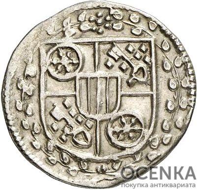 Серебряная монета Альбус Средневековой Германии - 1