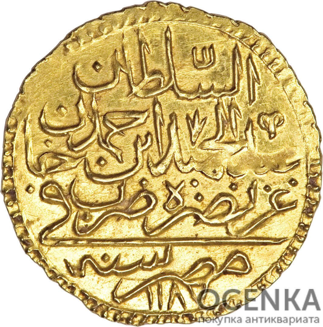 Золотая монета 1 Зери-Махбуб (1 Zeri Mahbub) Египет - 1