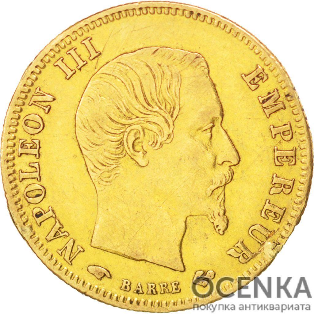 Золотая монета 5 Франков (5 Francs) Франция - 1