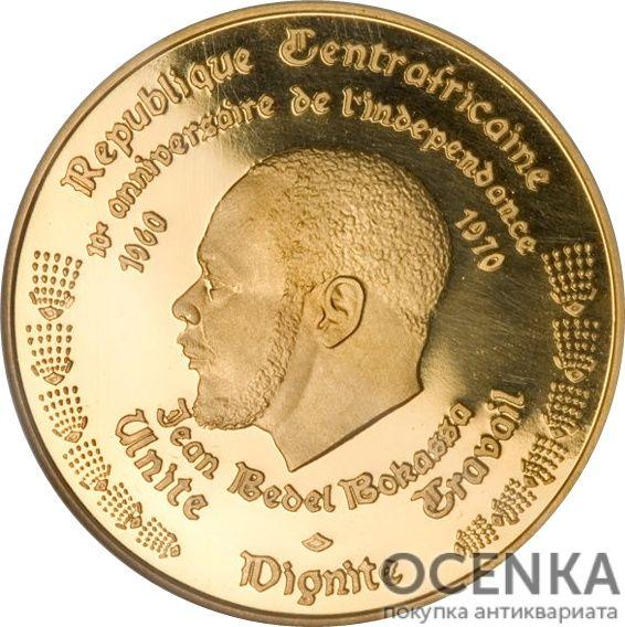 Золотая монета 5000 Франков (5000 Francs) ЦАР - 1