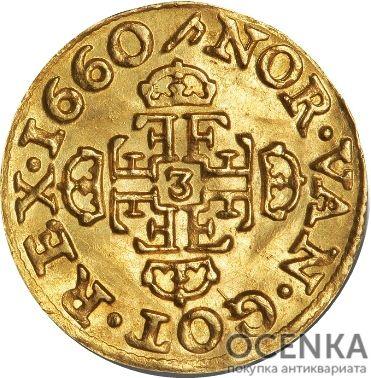 Золотая монета ¼ Дуката (¼ Ducat) Дания - 2
