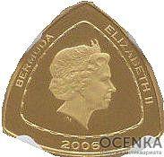 Золотая монета 3 доллара Бермудских островов - 3