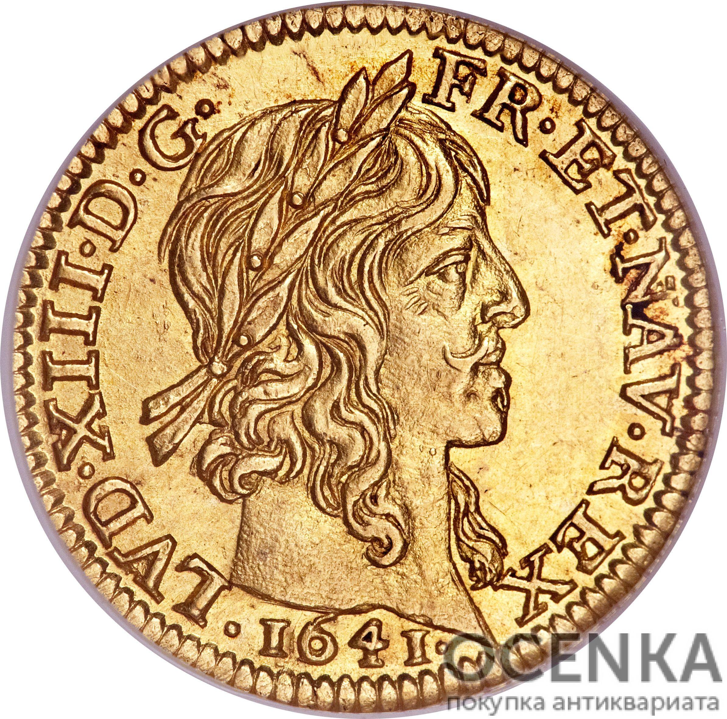 Золотая монета ½ Дьёра (½ d'Or) Франция - 3