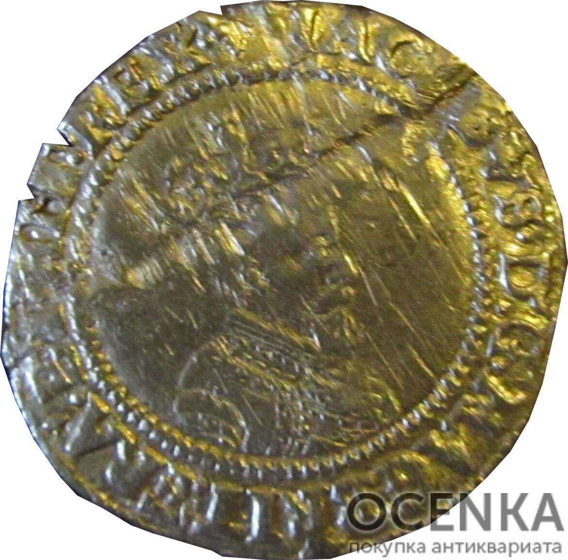 Золотая монета 1 Crown (крона) Великобритания - 6