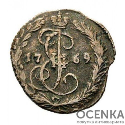 Медная монета Денга (Деньга) Екатерины 2 - 7
