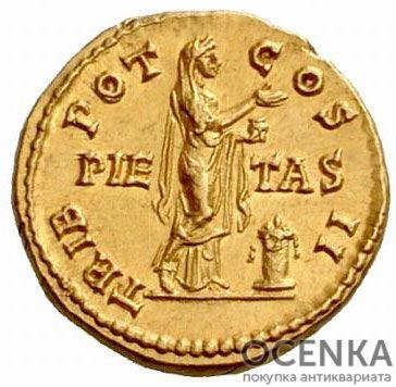 Золотой ауреус, Цезарь Публий Элий Траян Адриан Август, 136-138 год - 1