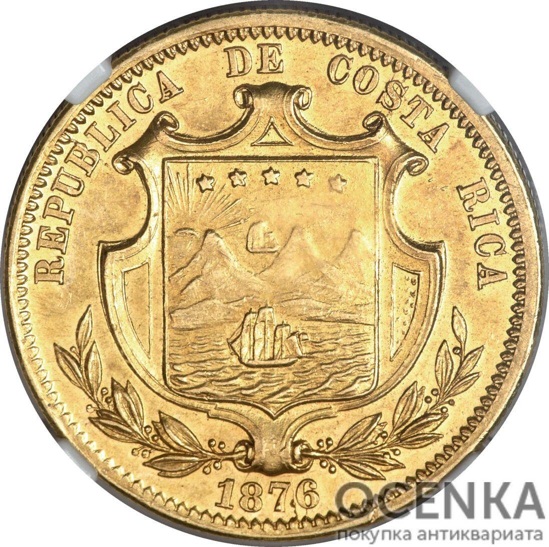 Золотая монета 10 Песо (10 Pesos) Коста Рика - 3