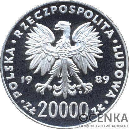 Серебряная монета 20 000 Злотых (20 000 Złotych) Польша