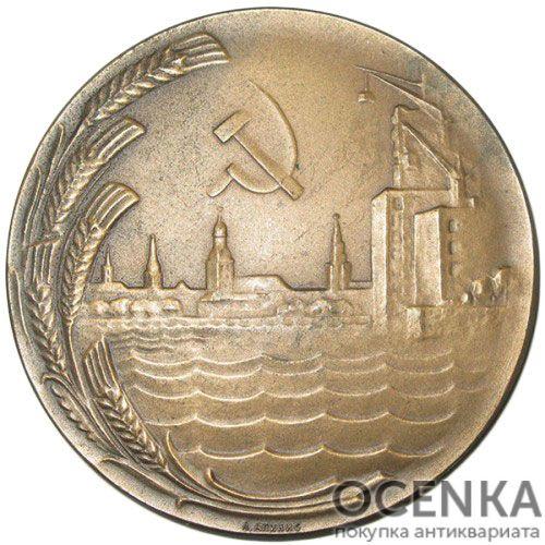 Памятная настольная медаль 25 лет Советской Латвии
