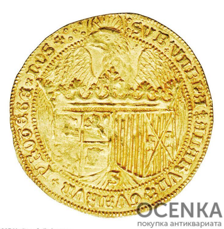Золотая монета 2 Кастельяно (2 Castellanos) Испания