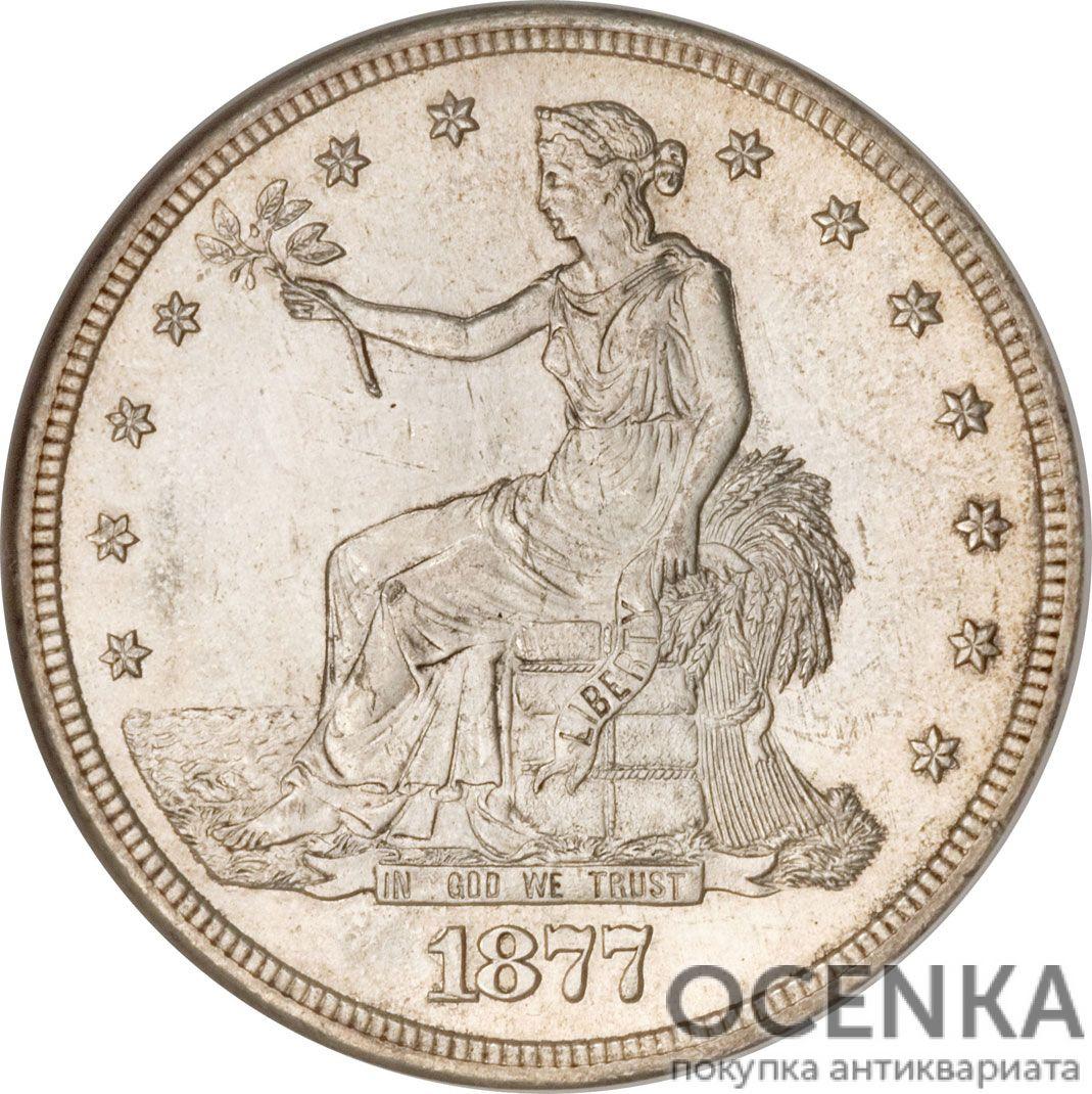 Серебряная монета 1 Доллар (One Dollar) США - 5
