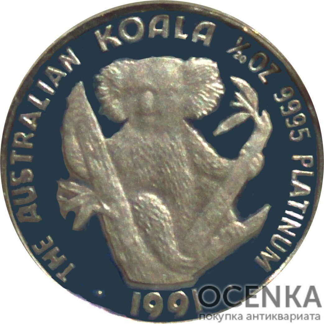 Платиновая монета 5 долларов Австралии - 3