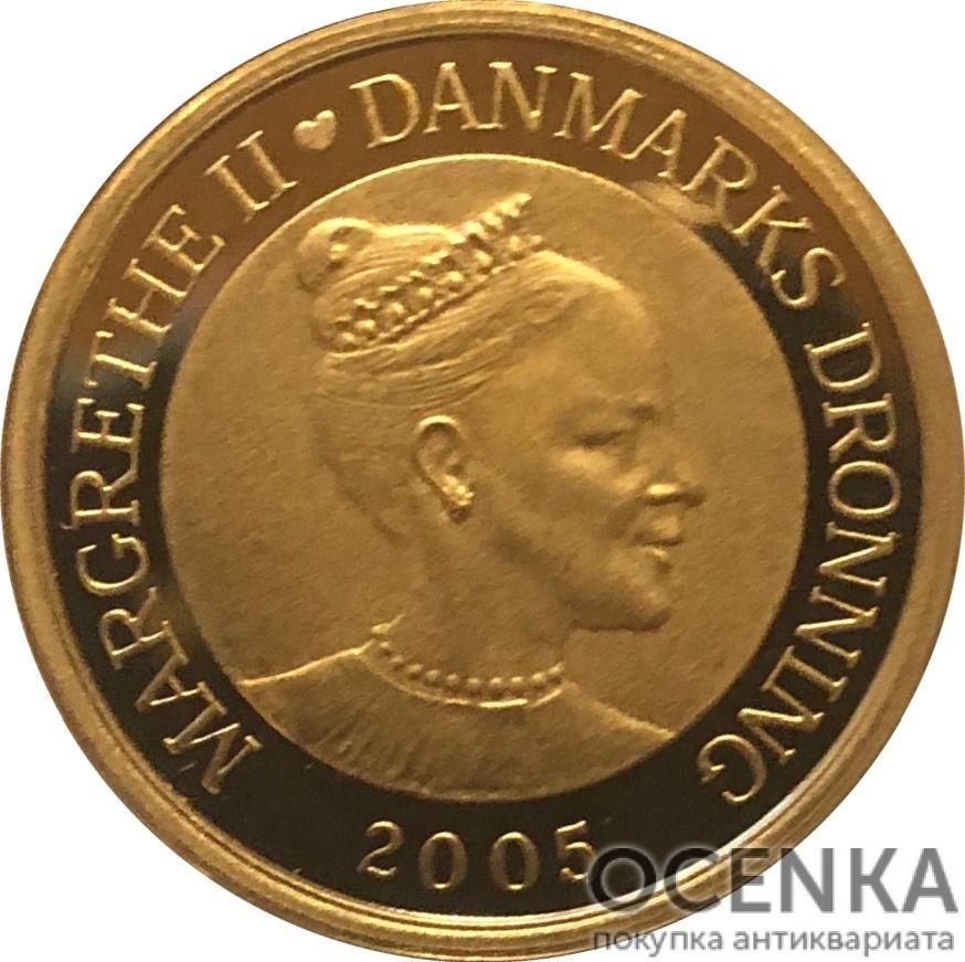 Золотая монета 10 Крон (10 Kroner) Дания - 5