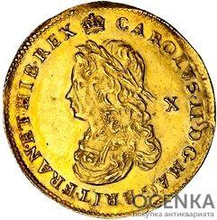 Золотая монета Double Crown (двойная крона) Великобритания - 4
