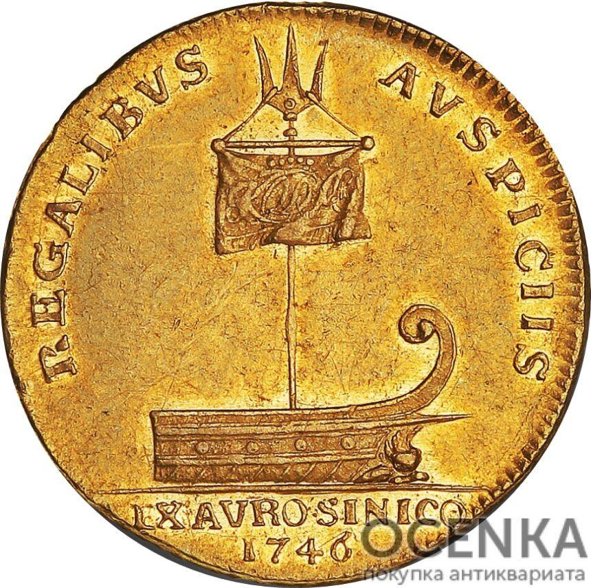 Золотая монета 2 Дуката (2 Ducats, Dukater) Дания - 4