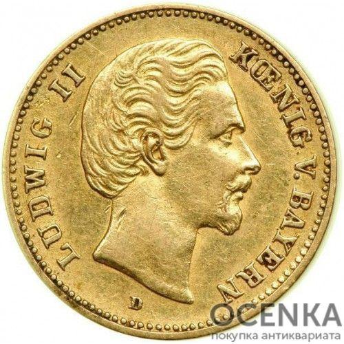 Золотая монета 5 Марок Германия - 1