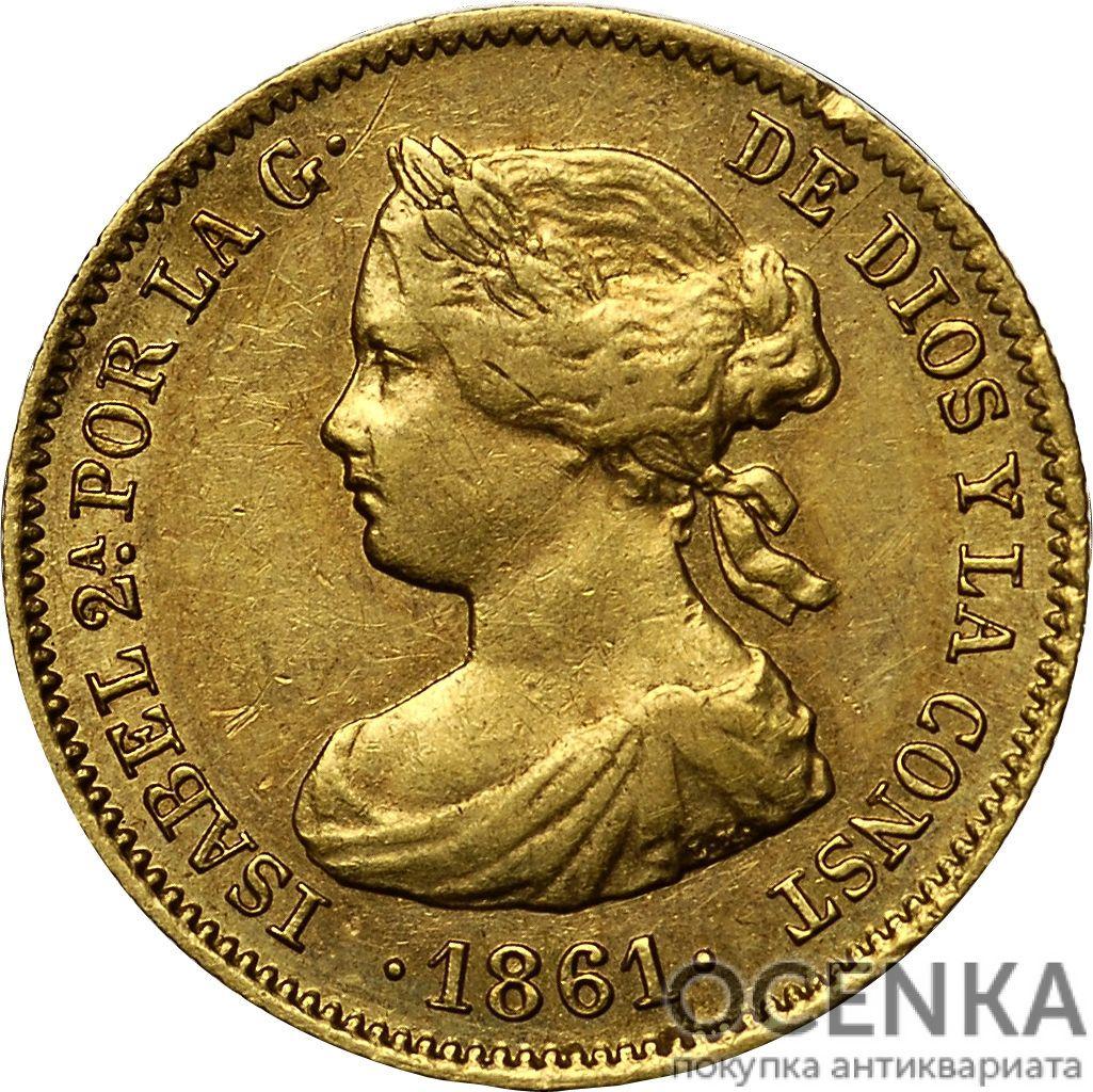 Золотая монета 20 Реалов (20 Reales) Испания - 1