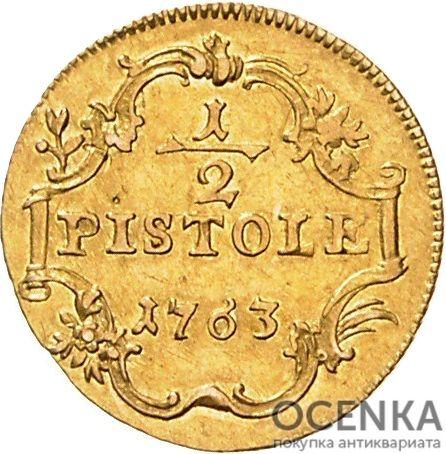 Золотая монета ½ Пистоля Германия - 2