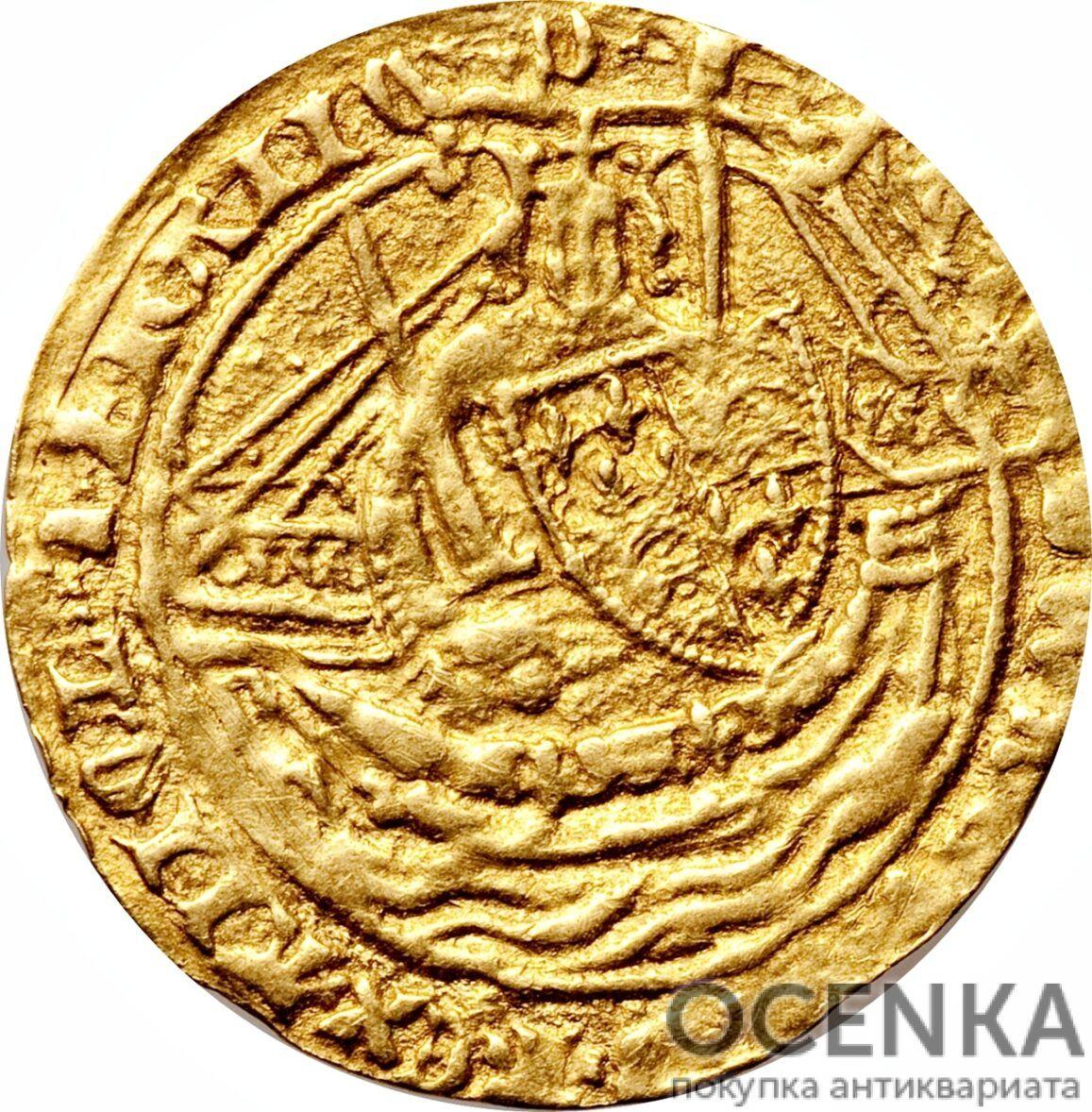 Золотая монета ½ Noble (1/2 нобля) Великобритания - 1