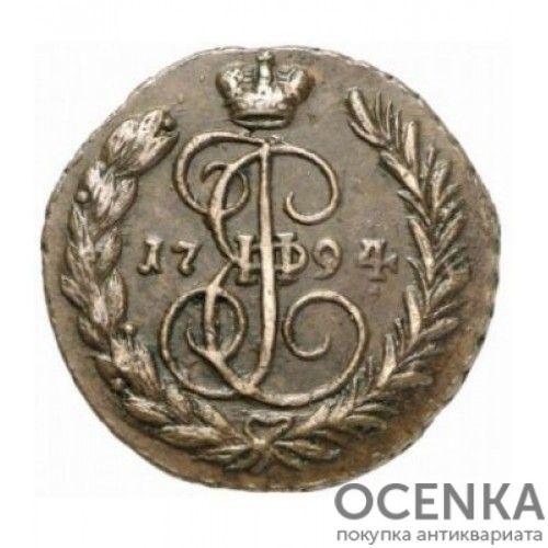 Медная монета 1 копейка Екатерины 2 - 7