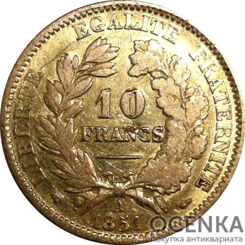 Золотая монета 10 Франков (10 Francs) Франция