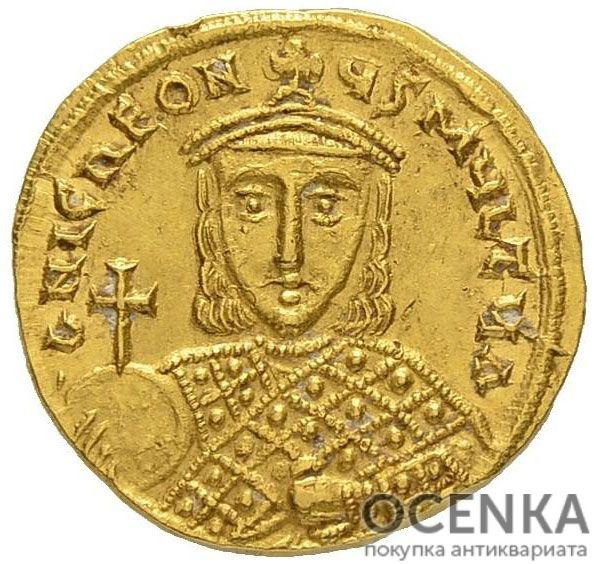 Золотой солид Византии, Артавазд, 742-743 год - 1