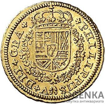 Золотая монета 2 Эскудо (2 Escudos) Испания - 5