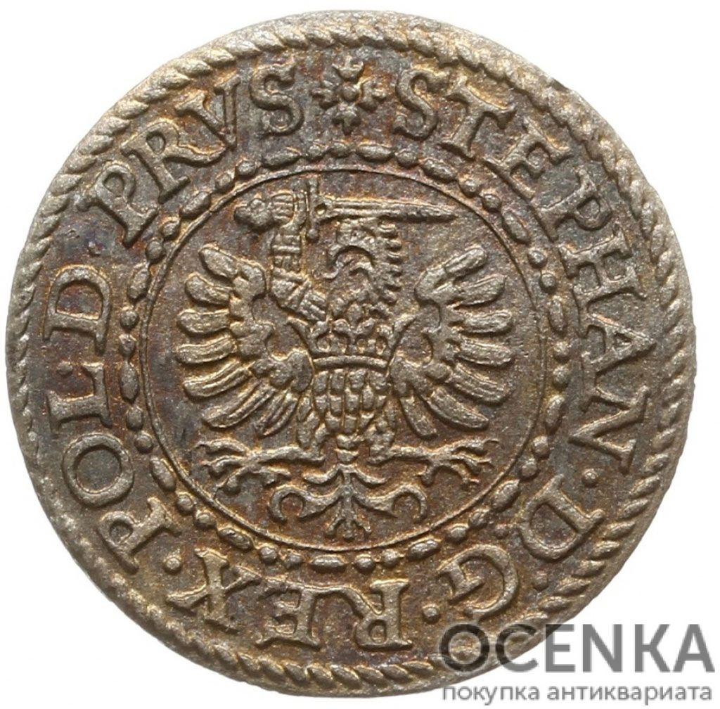 Серебряная монета Шеляг (1/3 Гроша) Средневековой Польши - 2
