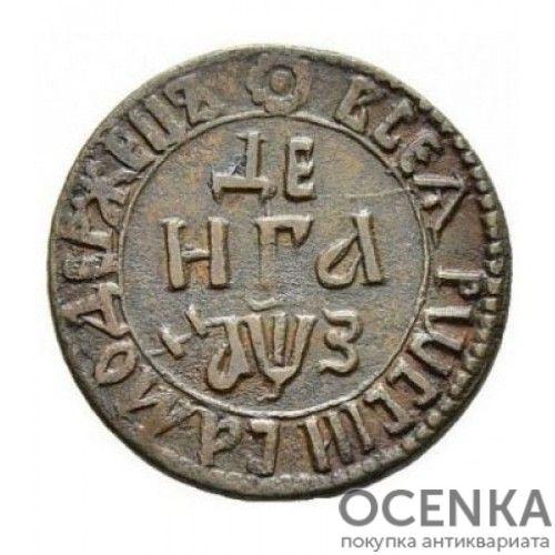 Медная монета Денга (1/2 копейки) Петра 1 - 6