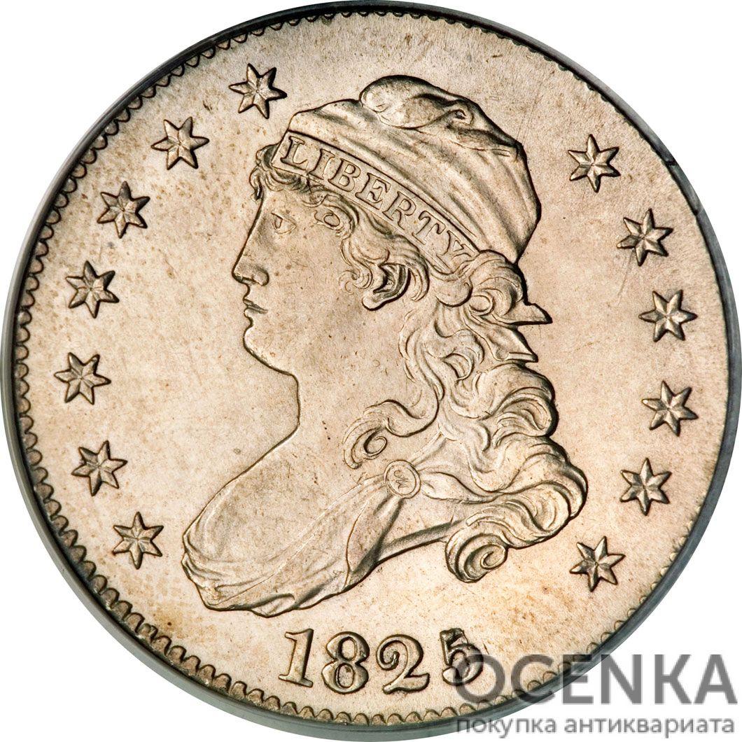 Серебряная монета 25 центов (25 Cents) США - 1