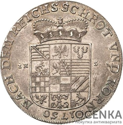 Серебряная монета Талер Средневековой Германии - 4