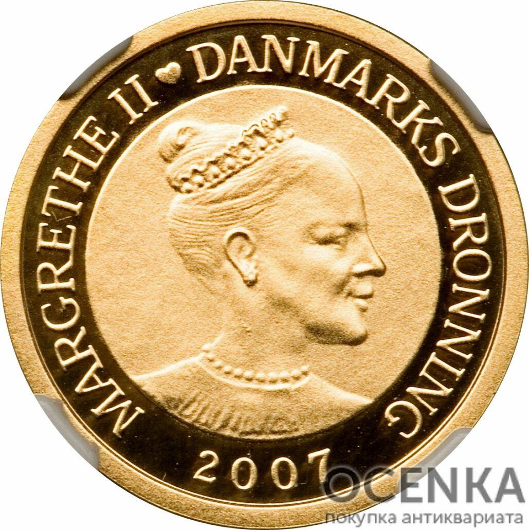 Золотая монета 1000 Крон (1000 Kroner) Дания - 1