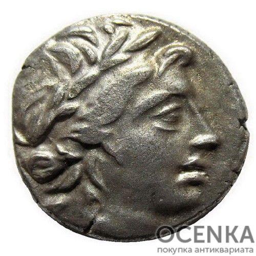 Серебряная монета Дархма Древней Греции - 4