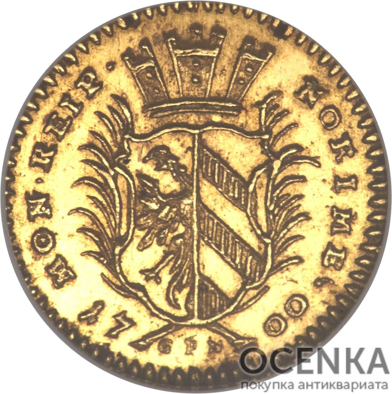 Золотая монета ¼ Дуката Германия - 4