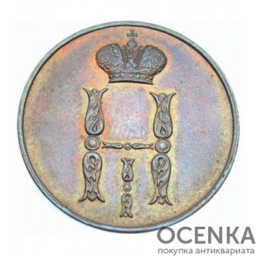 Медная монета 1 копейка Николая 1 - 9