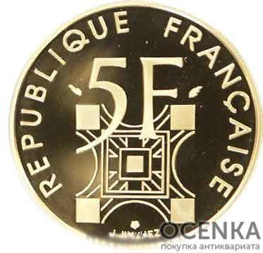 Золотая монета 5 Франков (5 Francs) Франция - 6