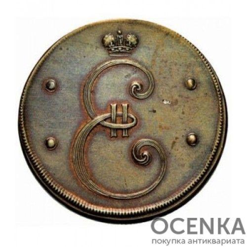 Медная монета 4 копейки Екатерины 2 - 1