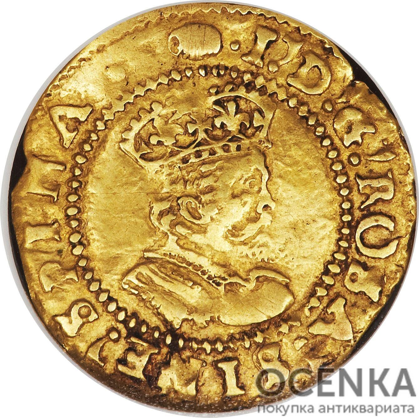 Золотая монета ½ Crown (полкроны) Великобритания - 3