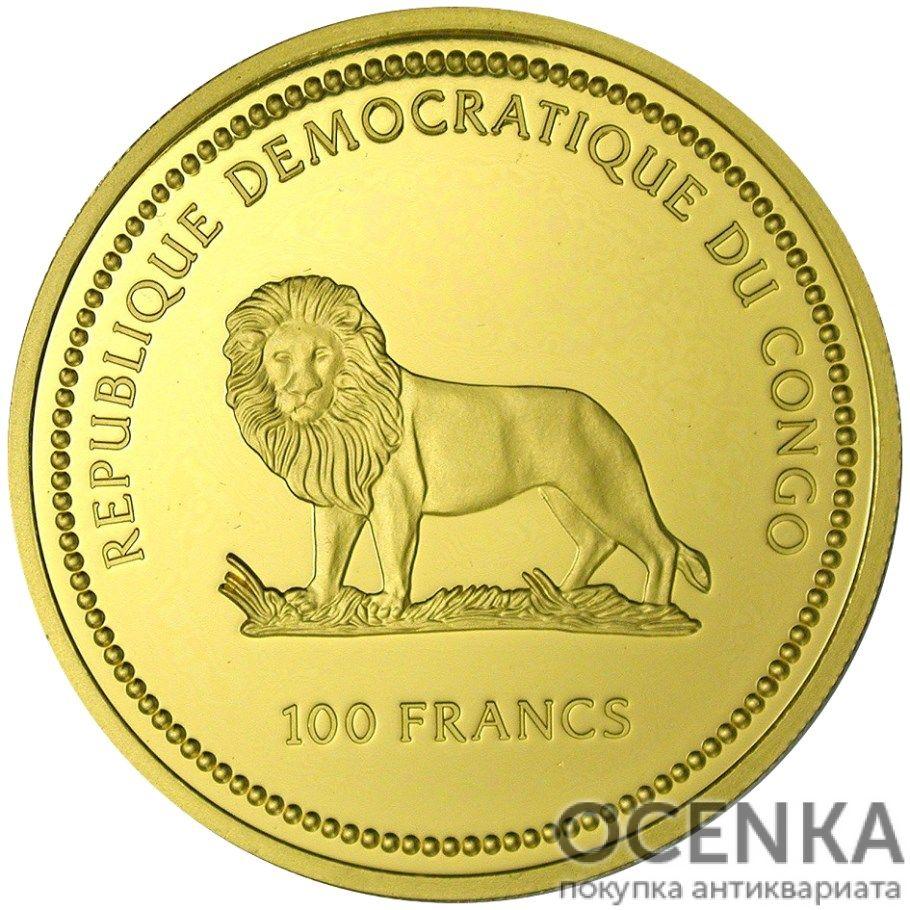 Золотая монета 100 Франков (100 Francs) Конго - 2