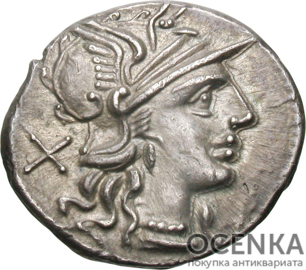 Серебряный Республиканский Денарий Луция Требония, 135 год до н.э.