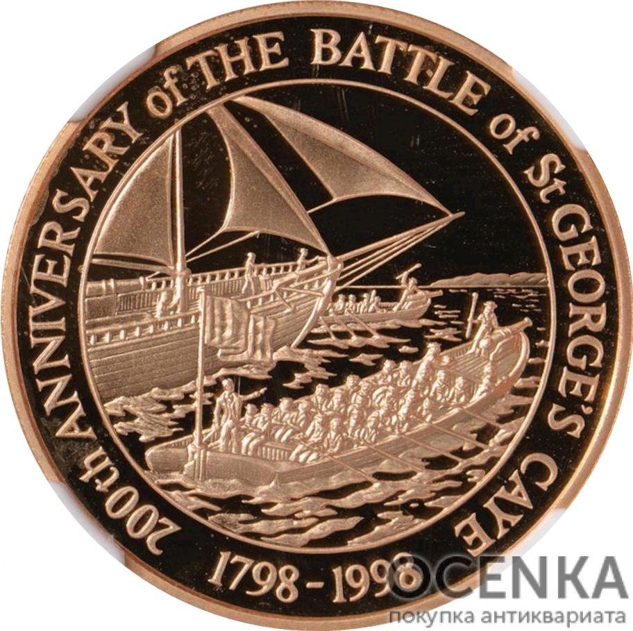 Золотая монета 100 долларов Белиза - 5