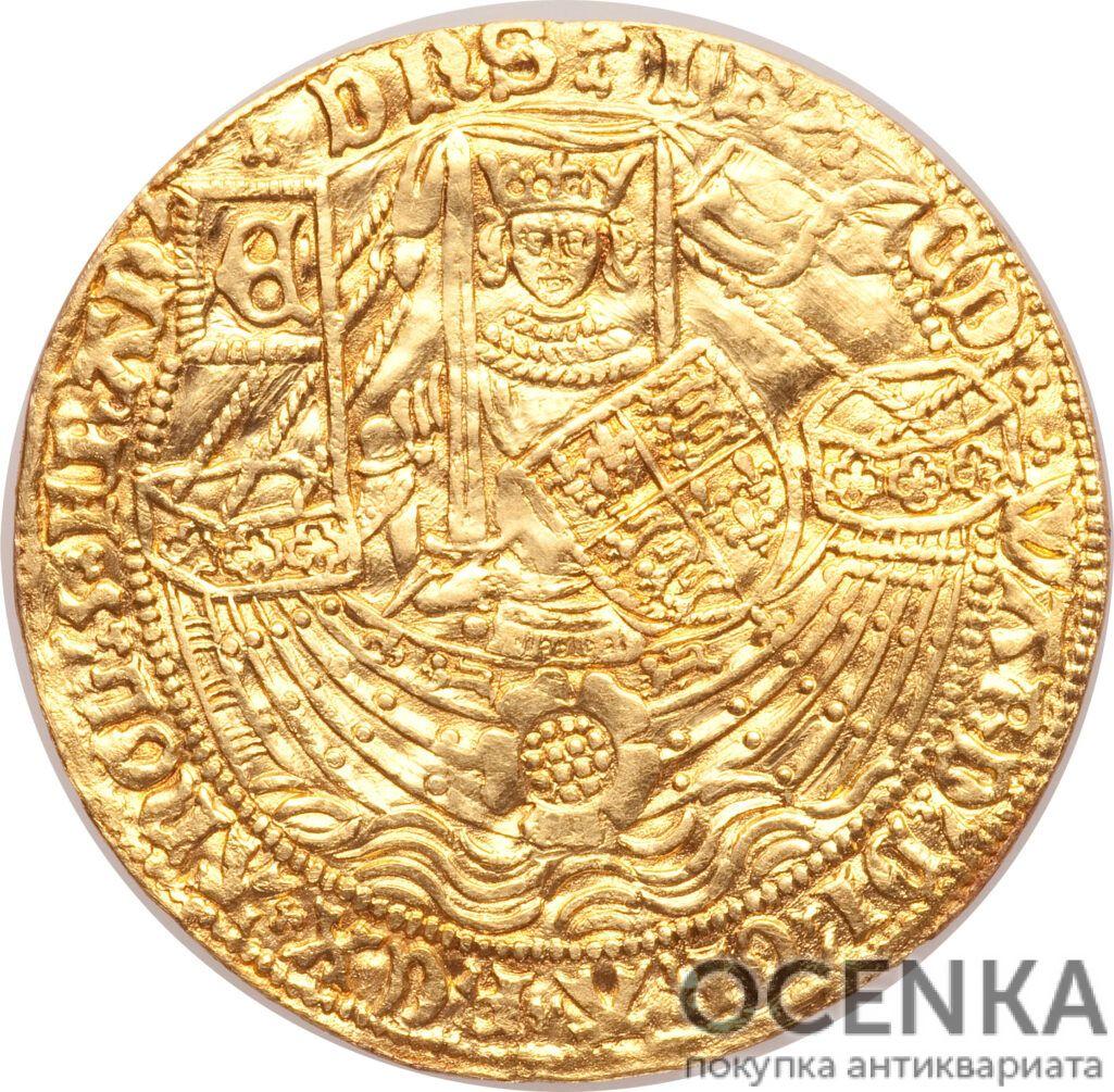 Золотая монета 1 Ryal (райол) Великобритания - 4